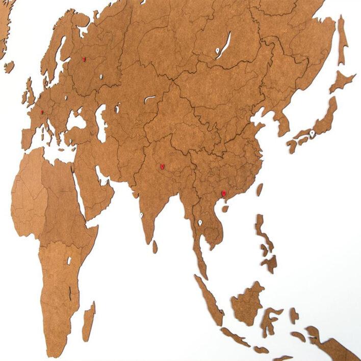 mappemonde geante en bois