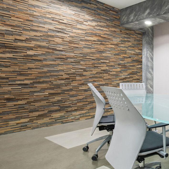 mur décoratif bois