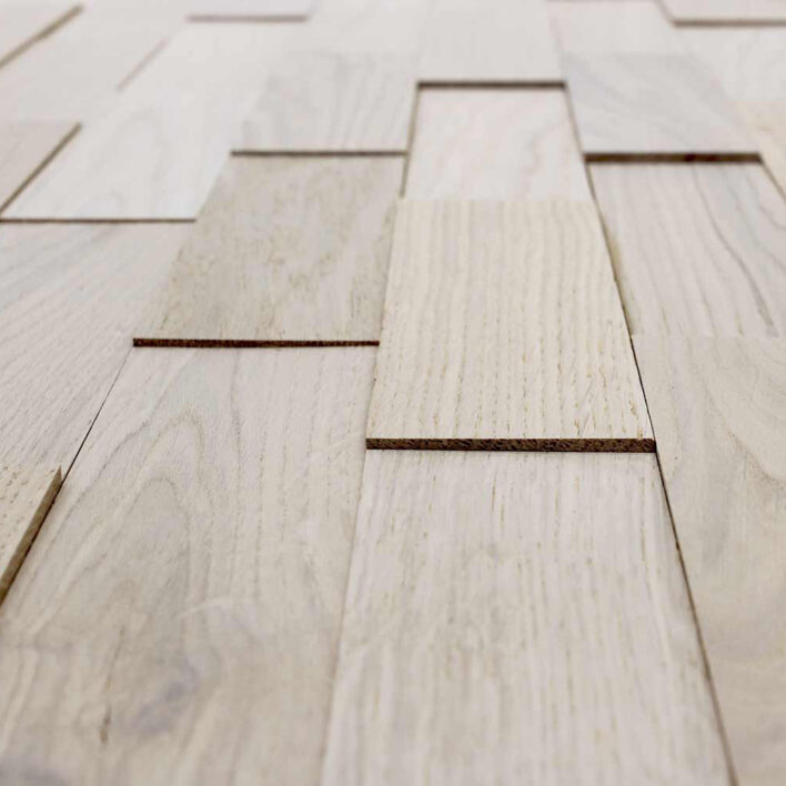 mur décoratif bois chêne arctique