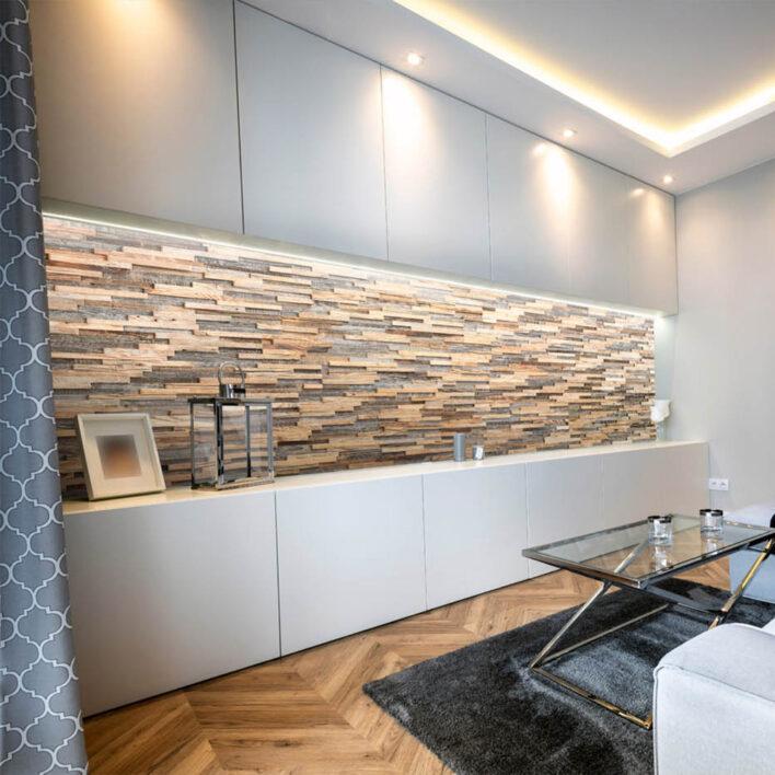 mur en lamelle de bois