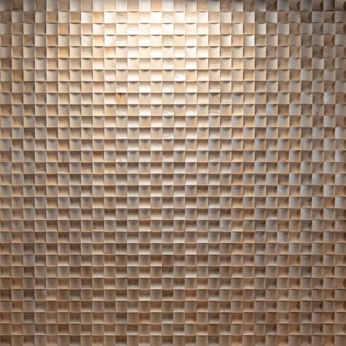 mur intérieur en bois brut Medio