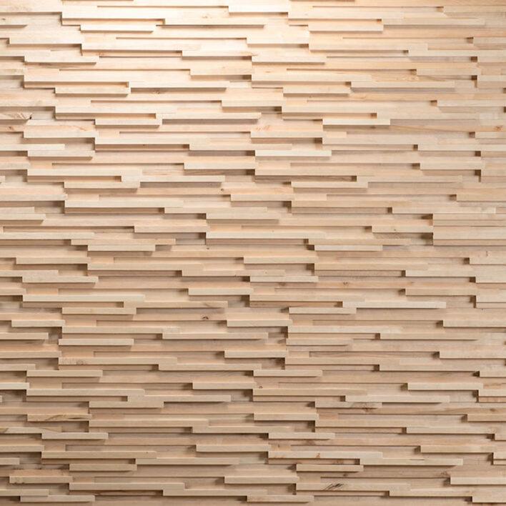 mur intérieur tasseau bois