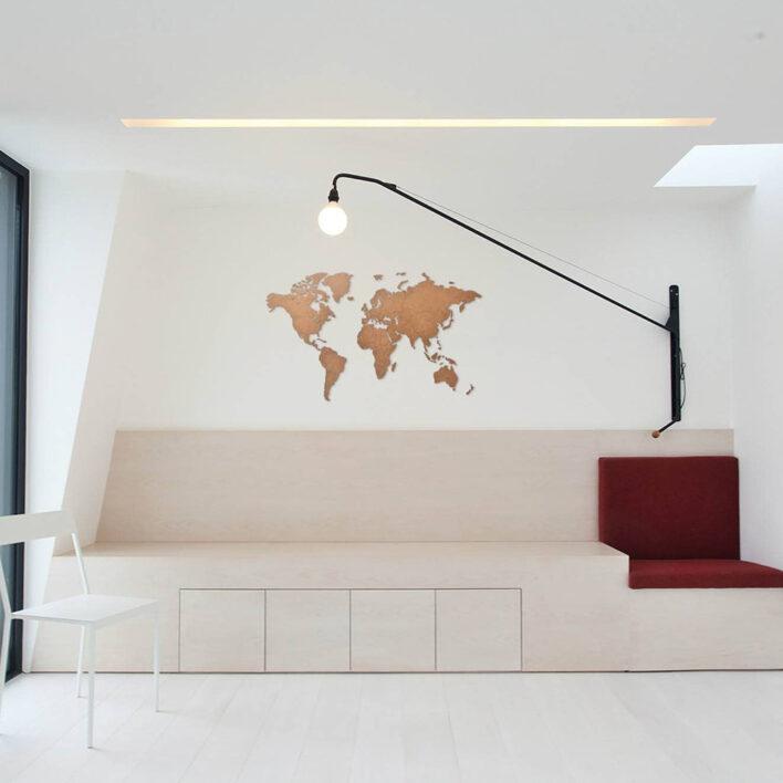 mur mappemonde decoratif