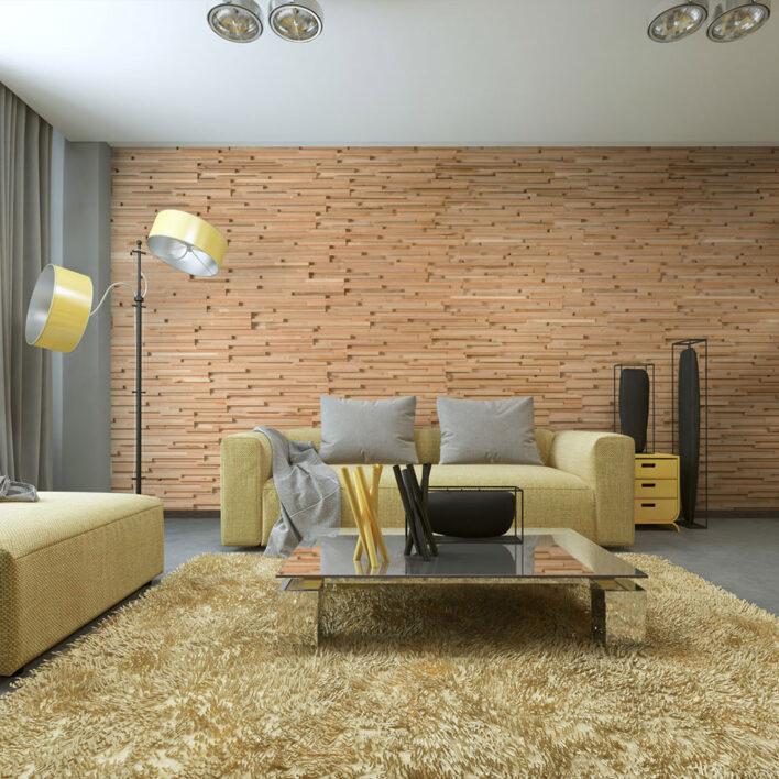 mur tasseau bois