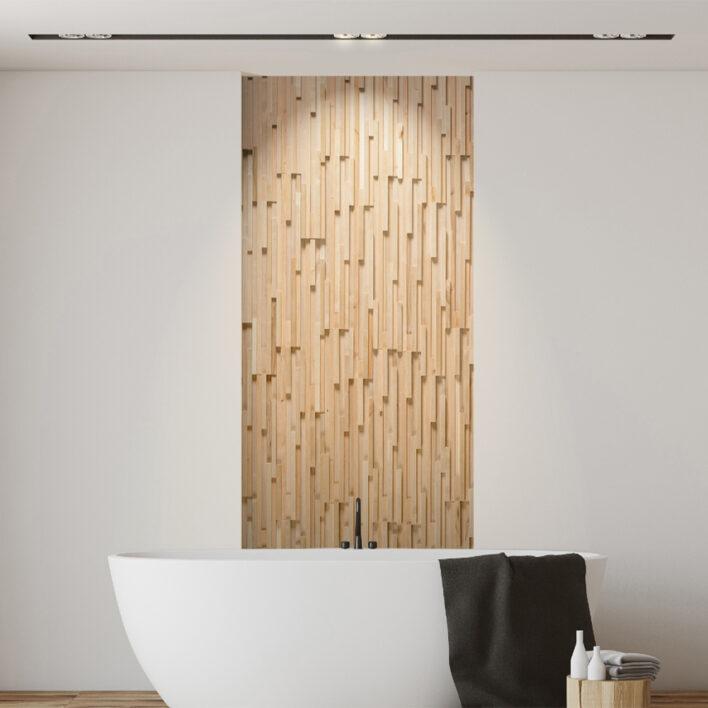 tasseau bois salle de bain