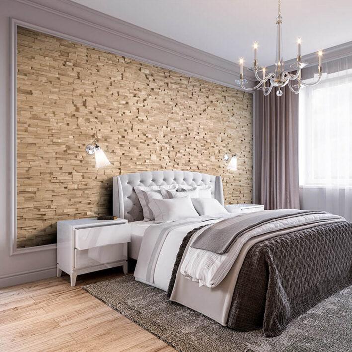 tête de lit murale bois