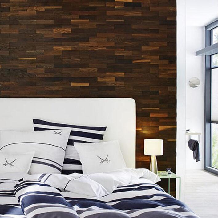 tête de lit murale bois Tobacco