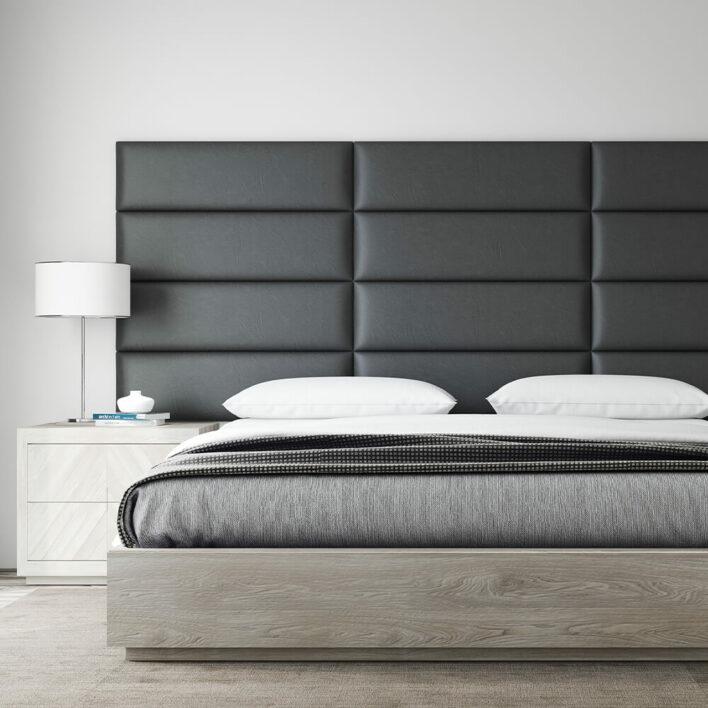tete-de-lit-en-simili-cuir-noir